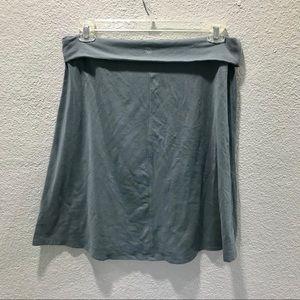 Athleta Slate Gray Blue Fold Over Circle Skirt